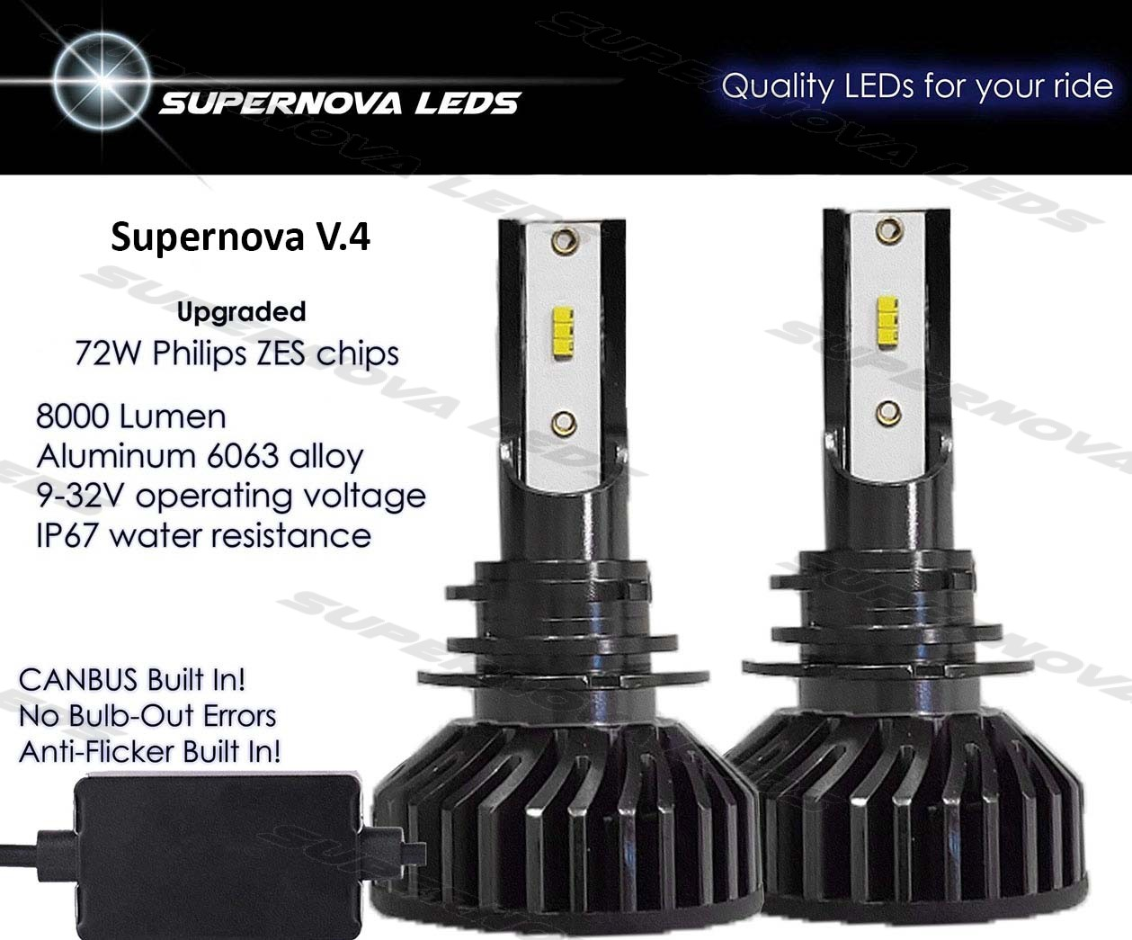 Supernova LEDs V.4 Headlights